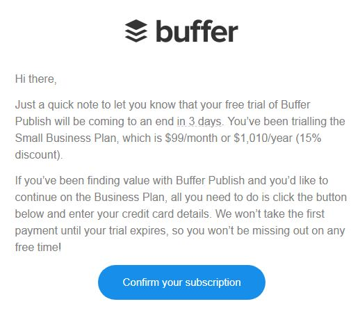 Buffer segmented emails