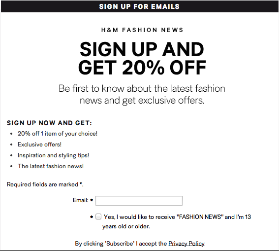 get more email signups