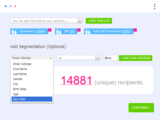 Email Campaign Send Dashboard