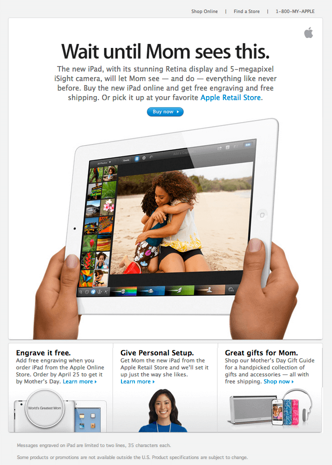 Apple Newsletter example