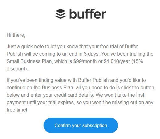 Buffer segmented emails