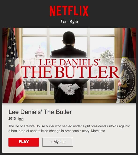 Netflix newsletter example